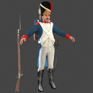 grenadier soldier 3D model
