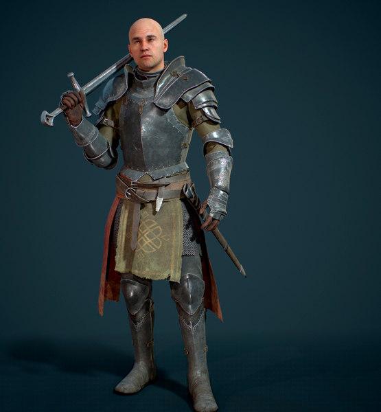 knight medieval 3D model