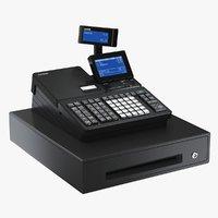 realistic cash register casio 3D