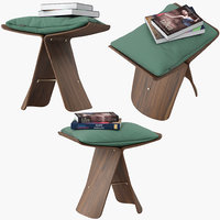 vitra butterfly stool 3D model