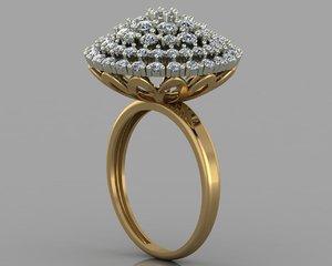 gold diamond 3D model