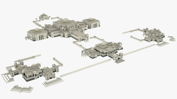 arabian palace building 3D model