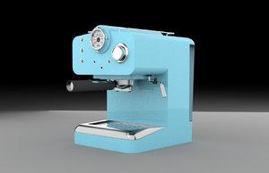 3D retro coffee machine
