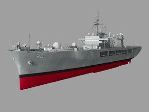 uss battle ship 3D model