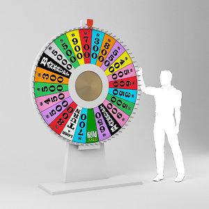 3D wheel fortune