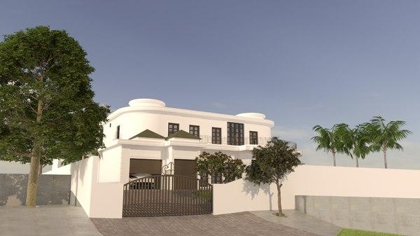 classic mansion 3D model