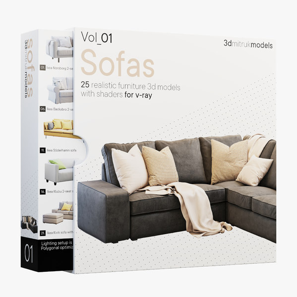 3D sofas volume 1 furniture model