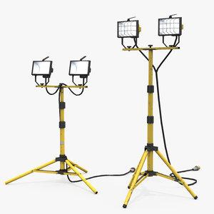 construction tripod lights 3D model