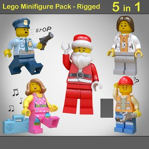 lego minifigure pack - 3D model