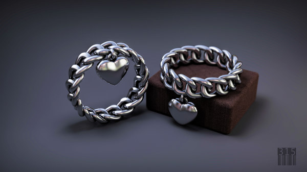 jewellery silver ring form 3D model