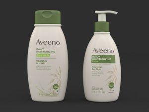 3D aveeno body wash lotion model