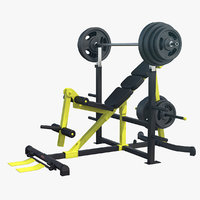 3D inclined bench press