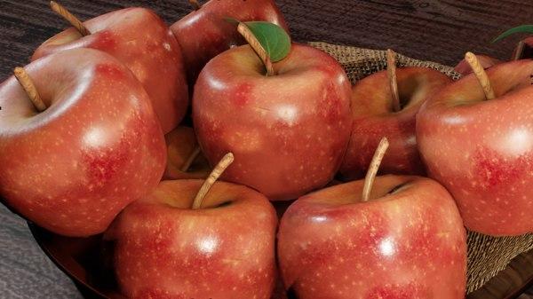 3D apples blender model