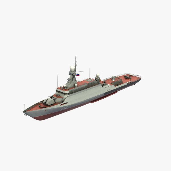buyan-m corvette russian 3D model