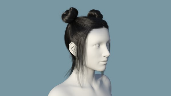 character hair 3D model