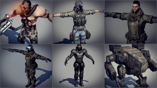 pack person 3D model