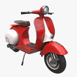 vespa scooter 3D