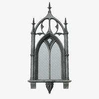 3D model gothic window 01