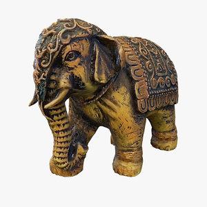 elephant figurine 3D model