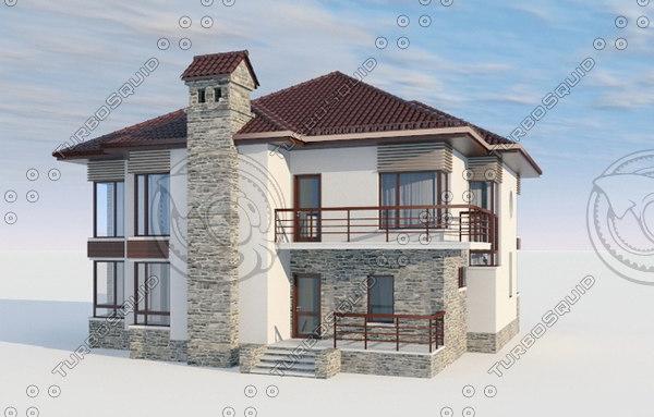 3D villa house design