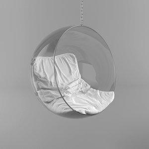 3D hanging bubble chair model
