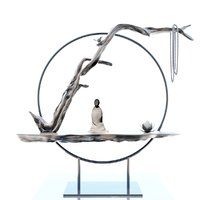 monk figurine flower necklace 3D model
