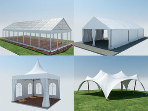 3D 4 event tent modeled