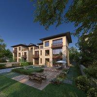 exterior cottages patio 3D model