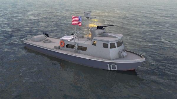 navy swift patrol boat 3D model