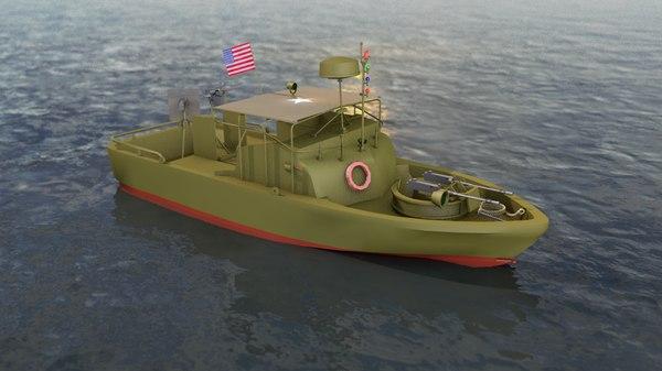 3D model pibber patrol boat river