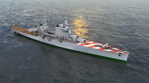 3D regia nave pola heavy model