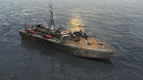 3D model pt 328 patrol torpedo