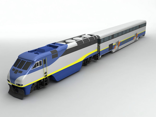 3D f59phi locomotive train passenger