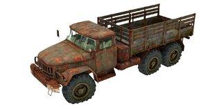 3D trucks zil 131 model