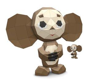 cheburashka papercraft stl 3D model