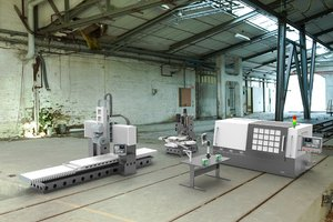 3D assembly machining equipment model