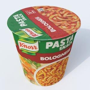 pasta bolognese 3D model