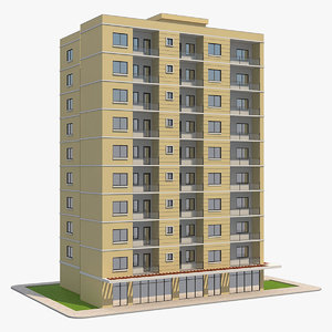 residential building 6 3D model