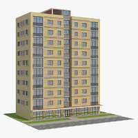 3D residential building 7