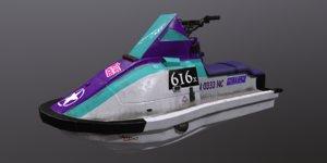 ski jet modeled model