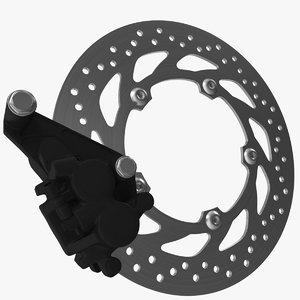 3D model motorcycle disk brake