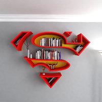 3D model superman book