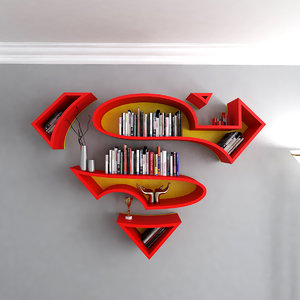 3D model superman book