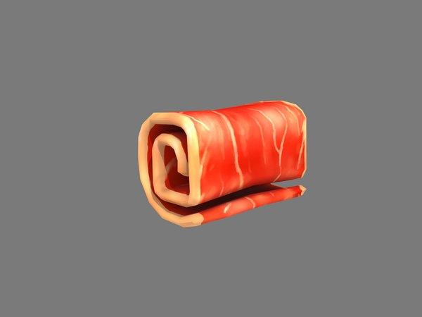 stylized bacon 3D model
