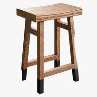 realistic living stool 3D model