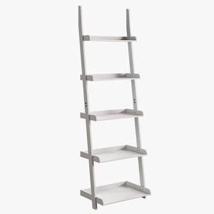realistic ricardo ladder bookcase 3D model