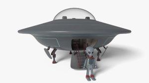 ufo alien toy 3D model