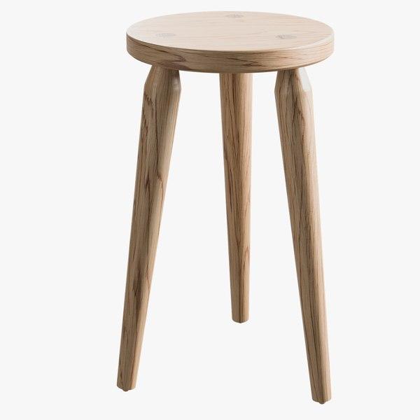3D realistic storebror stool model