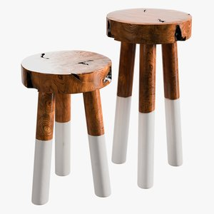 realistic dipdyed stools 3D model