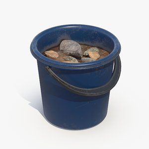 bucket rubble 3D model